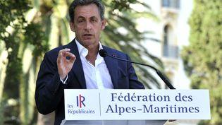 Le président des Républicains, Nicolas Sarkozy, lors d'un discours à Nice (Alpes-Maritimes), le 19 juillet 2015. (BEBERT BRUNO/SIPA)