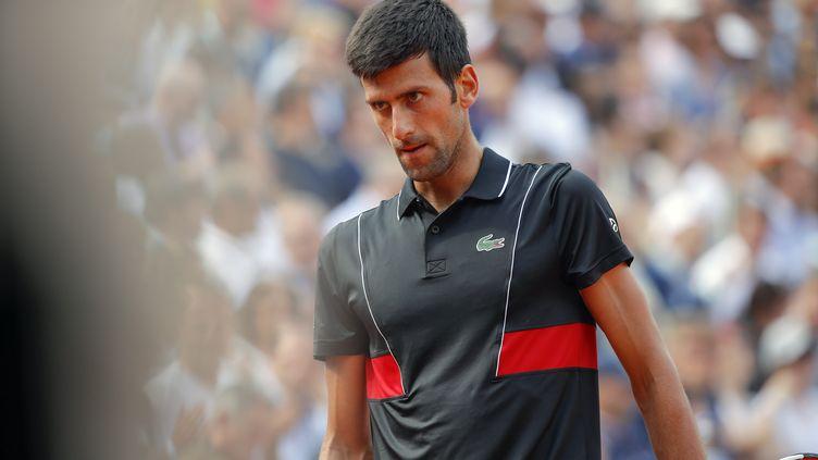 NovakDjokovic participe à Roland-Garros, à Paris, le 5 juin 2018. (STEPHANE ALLAMAN / AFP)