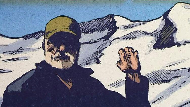 Tableau de l'exposition Jean-Marc Rochette artiste au sommet (Y Glo France 3 Alpes)