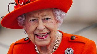 La reine Elizabeth II le 7 octobre 2021 au palais de Buckingham Palace à Londres (Angleterre). (VICTORIA JONES / AFP)