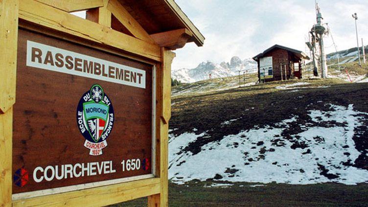 Les pistes de la station de Courchevel en 2000