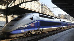 Un TGV à quai, gare de l'Est, à Paris. (SERGE ATTAL / ONLY FRANCE)