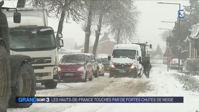 Les Hauts-de-France touchés par de fortes chutes de neige