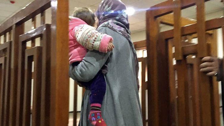 Mélanie Boughedir au tribunal de Bagdad le 19 février 2018. (STRINGER / AFP)