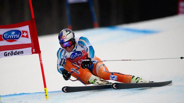 Aksel-Lund Svindal victorieux du Super-G de Val Gardena (OLIVIER MORIN / AFP)