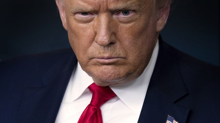 Donald Trump, le 28 juillet 2020 à la Maison Blanche, à Washington (Etats-Unis). (JIM WATSON / AFP)