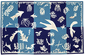 Tapisserie en laineHenri Matisse,Polynésie la mer, 1948, Collection de la ville de Beauvais  (Succession H. Matisse)