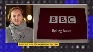L'autorité de régulation de l'audiovisuel chinoisa annoncéjeudi 11 févrieravoir interdit la diffusion de la BBCWorldNews, estimant que les contenus de cette chaîne d'information internationale avaient enfreint les directives en vigueur dans le pays.  (franceinfo)