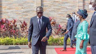 Patrice Talon, président de la République du Bénin, candidat à un second mandat pour les élections présidentielles du 11 avril 2021. Ici au siège de la présidence, le 1er août 2020, jour de l'indépendance du pays.  (YANICK FOLLY / AFP)