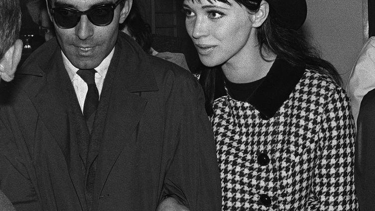 Anna Karina et Jean-Luc Godard en 1963. (STR / UPI)