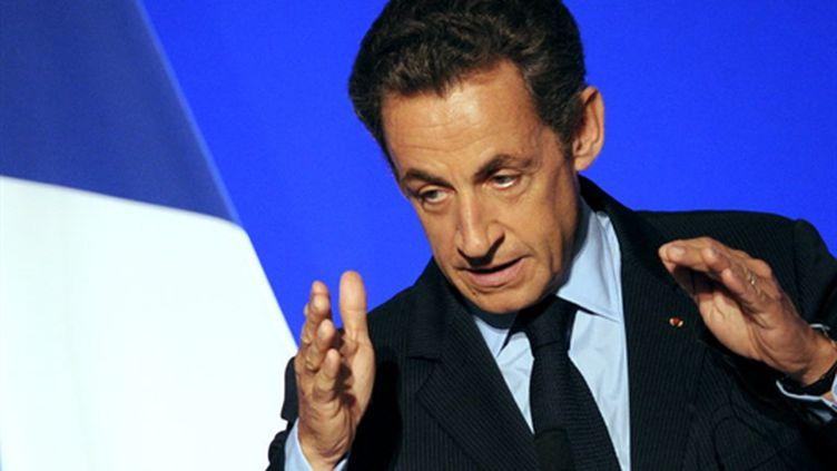 A Deauville, Nicolas Sarkozy s'est exprimé sur la situation sociale de plus en plus tendue à propos des retraites (AFP - Franck FIFE)