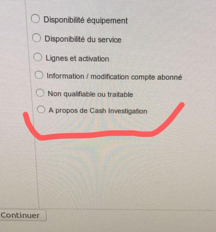 """Le bouton """"Cash Investigation"""" disponible dans les call-centers (FRANCEINFO)"""