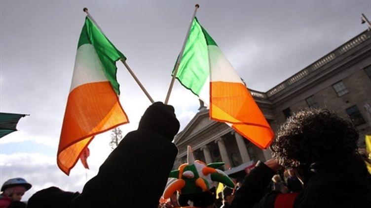 Manifestations contre les mesures d'austérité à Dublin, le 27 novembre 2010. (AFP - Peter Muhly)