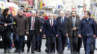 Bernard Cazeneuve et Francois Molins. (FRANCOIS GUILLOT / AFP)