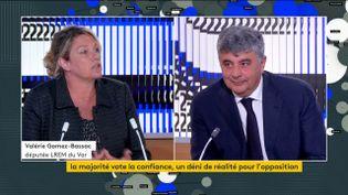 Valérie Gomez-Bassac (LREM) et David Habib (PS) (FRANCEINFO)