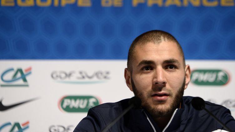 Karim Benzema privé d'équipe de France pour l'Euro-2016 en France (FRANCK FIFE / AFP)