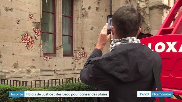 Des oeuvres en Lego sur le palais de justice de Rouen
