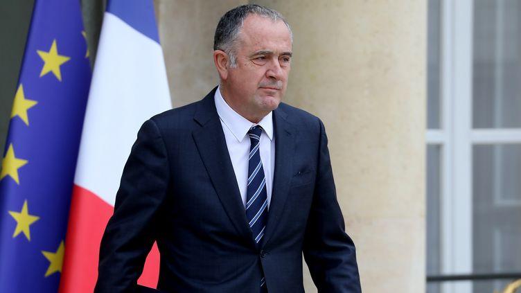 Le ministre de l'Agriculture, Didier Guillaume, le 30 octobre 2019 à la sortie du palais de l'Elysée, à Paris. (LUDOVIC MARIN / AFP)