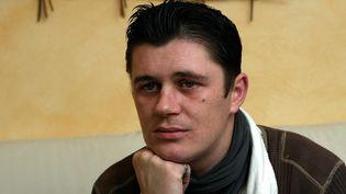 Daniel Legrand fils, l'un des acquittés de l'affaire de pédophilie d'Outreau, le 16 février 2011 à Wimille (Pas-de-Calais). ( MAXPPP)