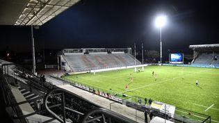 Le stade de rugby d'Agen lors d'un match, le 8 novembre 2020. (THIERRY BRETON / AFP)