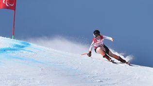 La skieuse Marie Bochet, le 11 mars 2018 à Pyeongchang (Corée du Sud). (KARL-JOSEF HILDENBRAND / DPA / AFP)