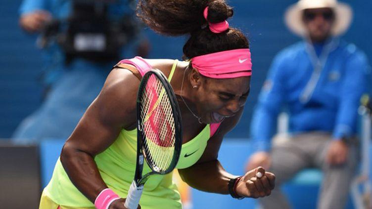 Le cri libérateur de Serena Williams à Melbourne (WILLIAM WEST / AFP)