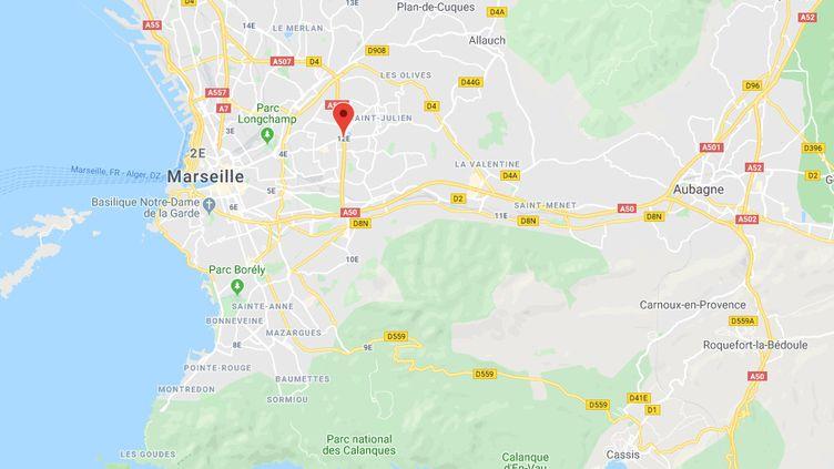 Le 12e arrondissement de Marseille. (CAPTURE ECRAN GOOGLE MAPS)