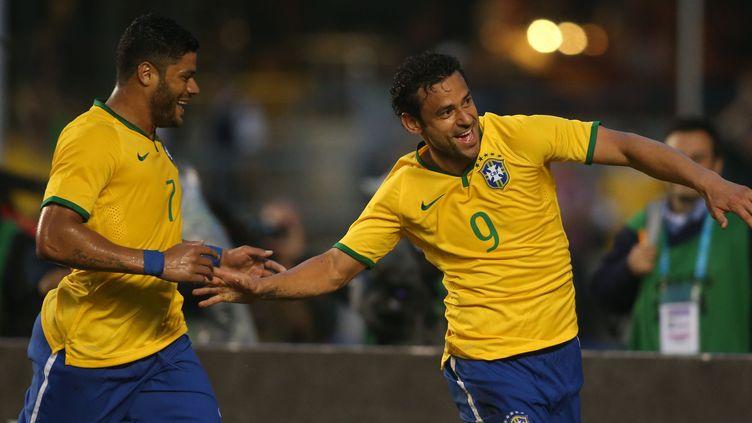 La joie de Fred, le buteur brésilien du soir (EDUARDO VIANA / AG?NCIA LANCEPRESS!)