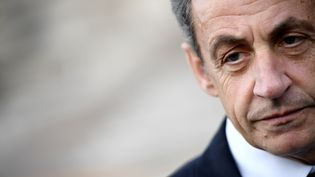L'ancien président de la République, Nicolas Sarkozy, le 14 mai 2017 à Paris. (FRANCK FIFE / AFP)