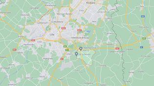 Le corps d'un étudiant a été retrouvé àSainghin-en-Mélantois, près de Lille (Nord), sur l'autoroute A27. (GOOGLE MAPS)