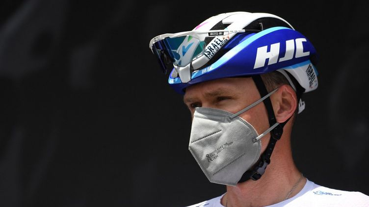 Le Britannique Christopher Froome de l'équipe Israel Academy avant la première étape de la 73e édition de la course cycliste du Criterium du Dauphiné, le 30 mai 2021. (ALAIN JOCARD / AFP)