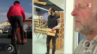 Un an après le premier confinement, ce coursier, cet agriculteur et cet agent immobilier de Dordogneont vu leur clientèle augmenter. (France 2)