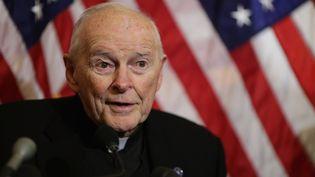 L'ex-cardinal Theodore McCarrick durant une conférence au Capitole, à Washington, le 8 décembre 2015. (CHIP SOMODEVILLA / GETTY IMAGES NORTH AMERICA / AFP)