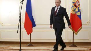 Le président russe Vladimir Poutine à Moscou, le 18 avril 2014. (MAXIM SHIPENKOV / AP / SIPA)