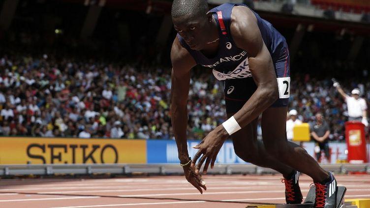 Mame-Ibra Anne, l'un des leaders du relais du 4x400m (ADRIAN DENNIS / AFP)