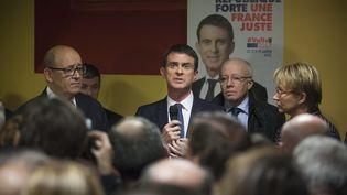L'ex-Premier ministre Manuel Valls, le 17 janvier 2017, à Lamballe(Côtes-d'Armor). (MAXPPP)