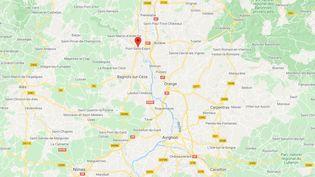 Pont-Saint-Esprit dans le Gard (CAPTURE D'ECRAN GOOGLE MAPS)