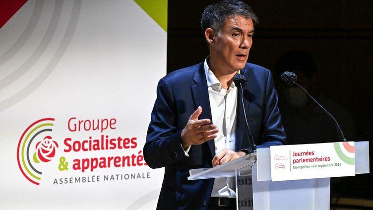 Le premier secrétaire du Parti socialiste, Olivier Faure, le 7 septembre 2021. (PASCAL GUYOT / AFP)