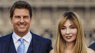 Tom Cruise et Alix Bénézech, photocall Mission : Impossible Fallout, Paris 12 juillet 2018  (CHRISTOPHE PETIT TESSON/EFE/Newscom/MaxPPP)