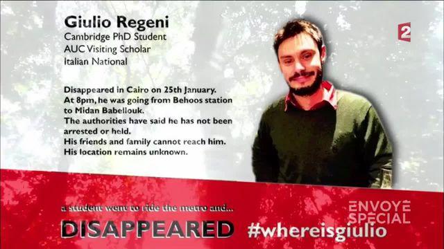 Envoyé spécial. Egypte: un ami de l'Italien retrouvé mort témoigne