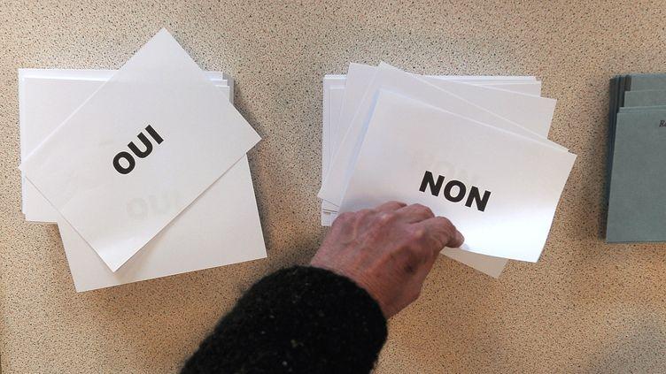 Dans un bureau de vote, le 7 avril 2013 à Strasbourg (Bas-Rhin). (FREDERICK FLORIN / AFP)