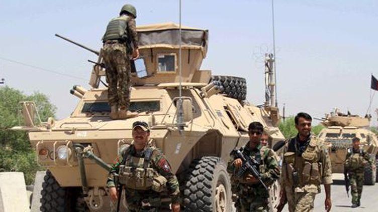Militaires afghans le 21 juin 2015 près de Kunduz (nord de l'Afghanistan) (Reuters - Stringer)