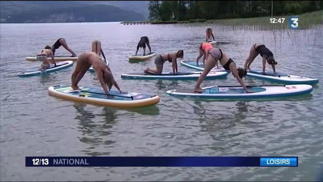 Activités nautiques, les nouveautés:  le yoga sur un paddle