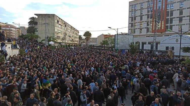 Manifestation contre l'élection présidentielle à Tizi Ouzou, le 12 décembre 2019. (- / USER'S NAME)