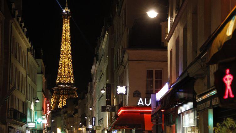 La tour Eiffel vue depuis la rue Saint-Dominique, le 4 février 2014, à Paris. (LUDOVIC MARIN / AFP)