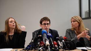 Quentin Guillemain, président de l'Association desfamilles victimes du lait contaminé aux salmonelles, le 15 janvier 2018 à Paris. (ERIC FEFERBERG / AFP)
