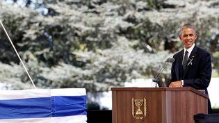 Le président américain Barack Obama, le 30 septembre 2016 à Jérusalem. (BAZ RATNER / REUTERS)