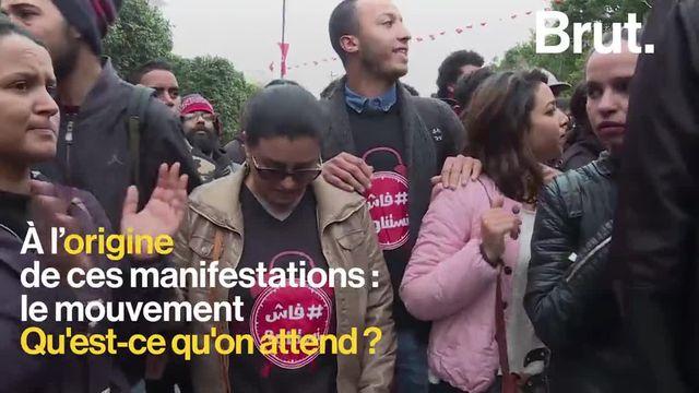 Brut : manif Tunisie