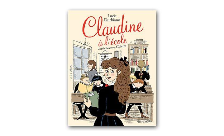 """Couverture """"Claudine à l'école"""", adaptation en BD, Gallimard Jeunesse"""
