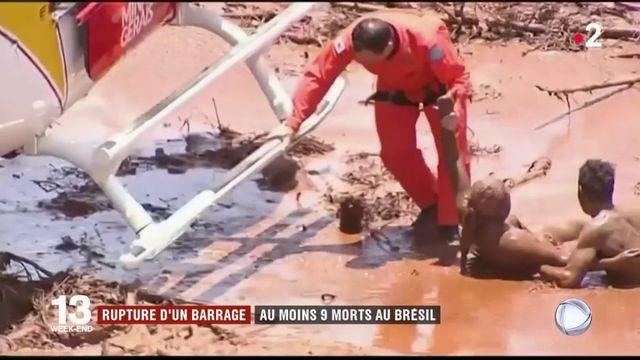 Brésil : la rupture d'un barrage cause au moins 9 morts